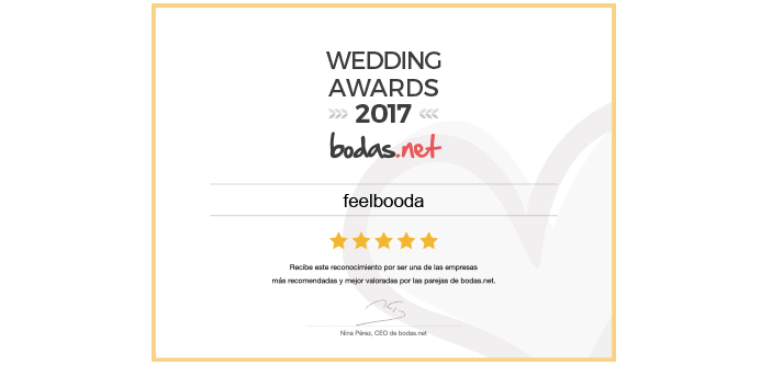 Premio Wedding Awards 2017 al mejor Fotografo de Bodas en Barcelona