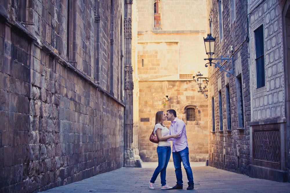 Reportaje de fotos romantico en Barcelona
